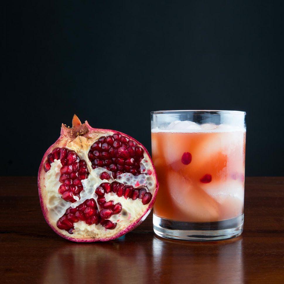 Whiskey Cocktails with Pomegranate Juice