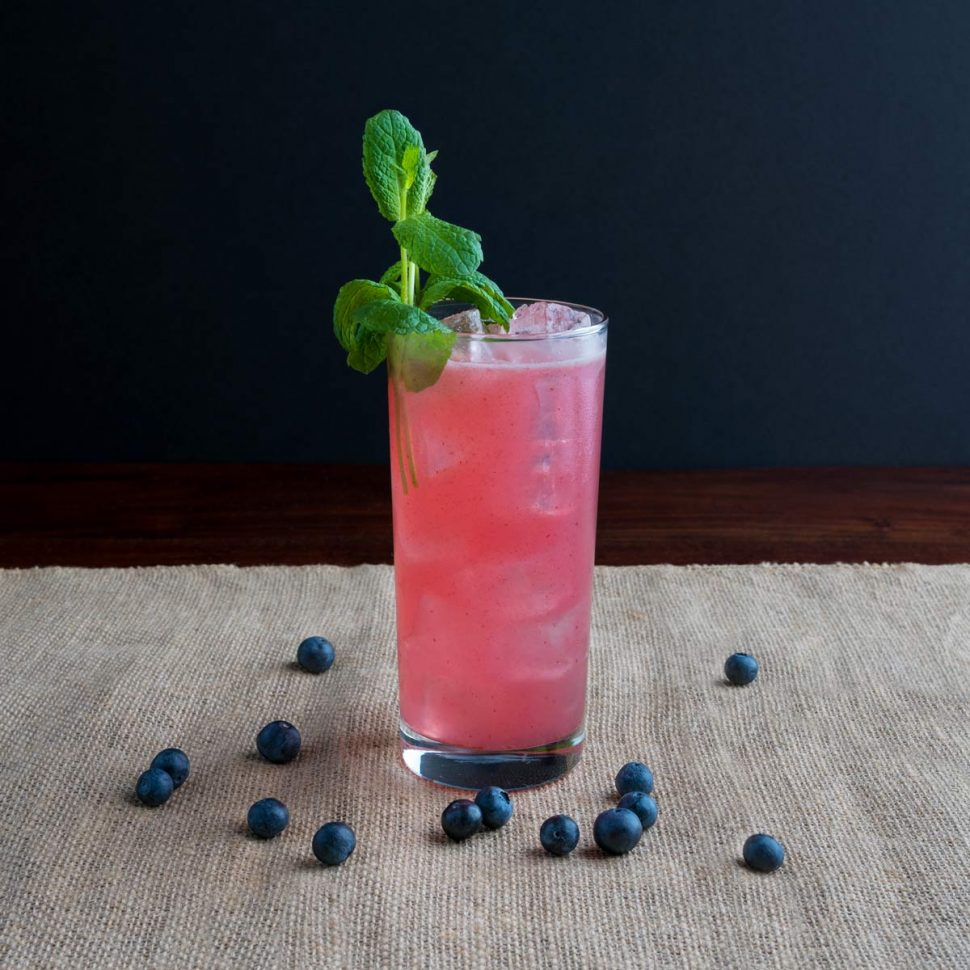 A Lightly Spicy Blueberry Cocktail