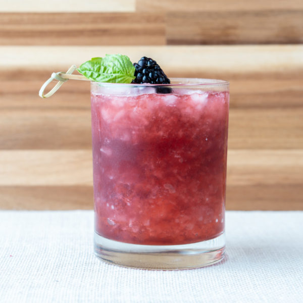 Heath elixir Cocktail with Blackberry